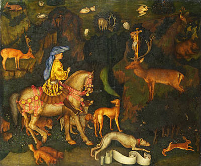 Vision Painting - The Vision Of Saint Eustace by Pisanello