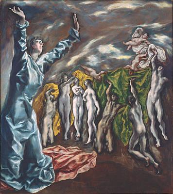 Vision Painting - The Vision Of Saint John by El Greco