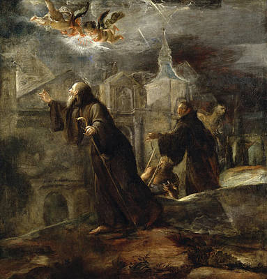 Vision Painting - The Vision Of St Francis Of Paola by Jose Jimenez Donoso