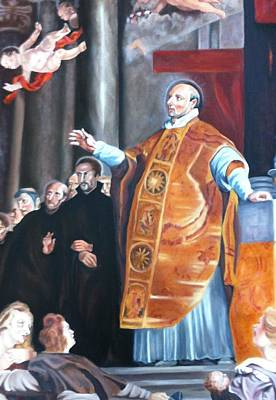 Ignatius Painting - The Vision Of St Ignatius Of Loyola by Judy Shinnick