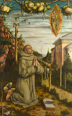 Vision Painting - The Vision Of The Blessed Gabriele by Carlo Crivelli