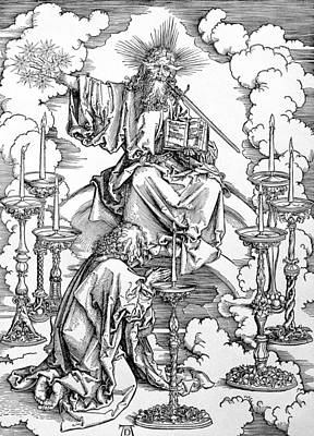 The Vision Of The Seven Candlesticks From The Apocalypse Or The Revelations Of St. John The Divine Print by Albrecht Durer or Duerer