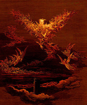 The Vision Of The Sixth Heaven Print by Gustave Dore