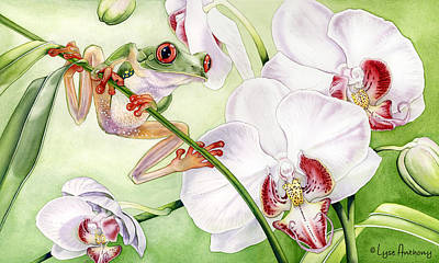 Frogs Painting - The Visitor by Lyse Anthony