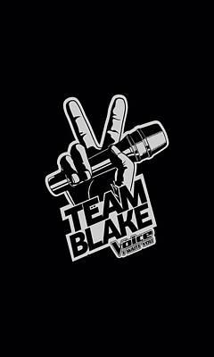 Shakira Digital Art - The Voice - Blake Logo by Brand A