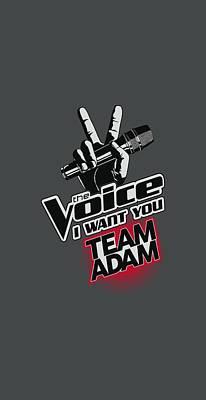 Shakira Digital Art - The Voice - Team Adam by Brand A