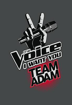 Shakira Digital Art - The Voice - Team Adam by Brand A