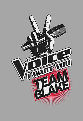 Shakira Digital Art - The Voice - Team Blake by Brand A