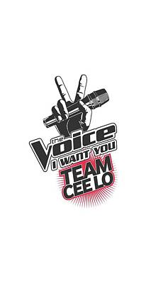 Shakira Digital Art - The Voice - Team Cee Lo by Brand A