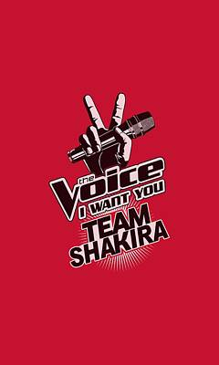 Shakira Digital Art - The Voice - Team Shakira by Brand A