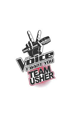 Shakira Digital Art - The Voice - Team Usher by Brand A