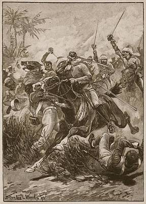 The Volunteer Cavalry Charged Print by Stanley L. Wood