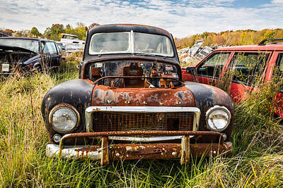 Wrecked Cars Photograph - The Volvo Junkyard by Dale Kincaid