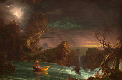 Cole Painting - The Voyage Of Life Manhood by Thomas Cole
