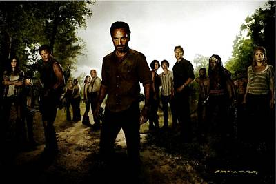 The Walking Dead Print by Gabriel T Toro