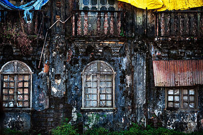 Abandoned House Photograph - The Wall Of The Old Goan House 1. Margao. India by Jenny Rainbow