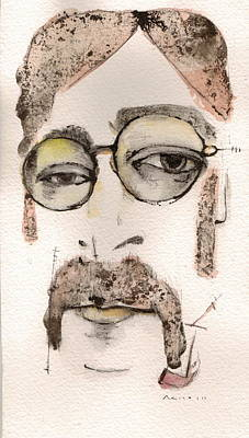 John Lennon Mixed Media - The Walrus As John Lennon by Mark M  Mellon