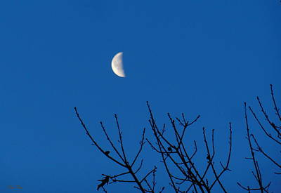 Man In The Moon Photograph - The Waning Is The Hardest Part by Wild Thing