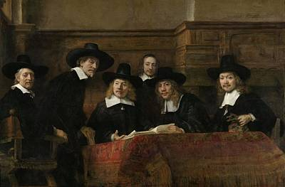 Warden Photograph - The Wardens Of The Amsterdam Drapers' Guild, Known As 'the Syndics', 1662 Oil On Canvas by Rembrandt Harmensz. van Rijn