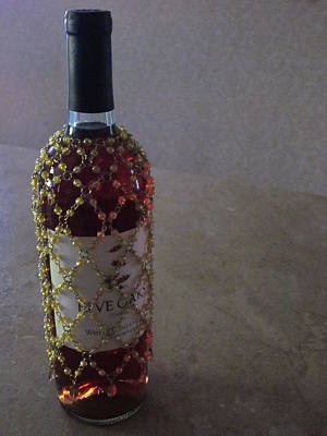 Images Of Wine Bottles Photograph - The Warm Glow Of A Chilled Wine by Guy Ricketts