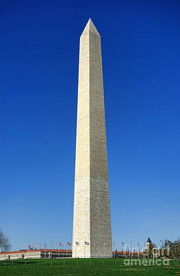 The Washington Monument Print by Olivier Le Queinec
