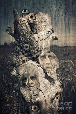 The Watcher Print by Jutta Maria Pusl