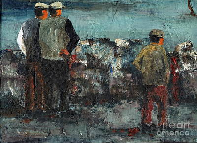Tour Ireland Painting - The Watchers  by Val Byrne