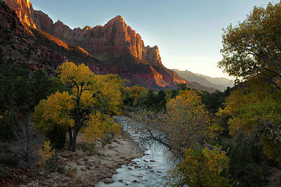 Outdoors Photograph - The Watchman At Zion by Andrew Soundarajan