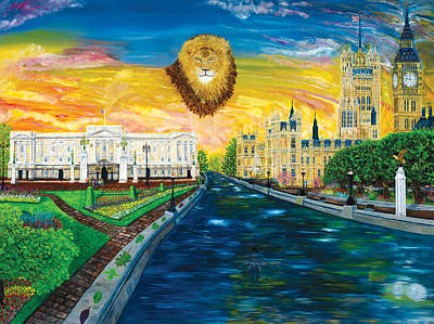 Buckingham Palace Painting - the Watchman of England by Mike De Lorenzo