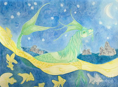 Kelpie Mixed Media - The Water Horse by Emily Alexander