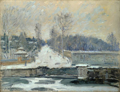 Alfred Sisley Painting - The Watering Place At Marly-le-roi by Alfred Sisley