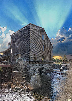 The Waterwheel Print by Fred LaPoint