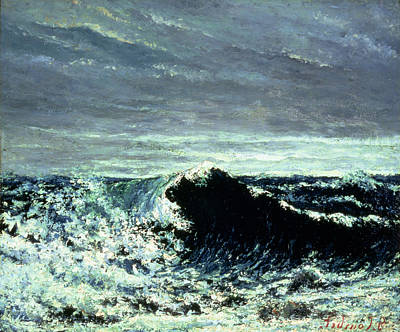 Spray Painting - The Wave by Gustave Courbet