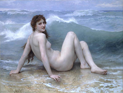 William-adolphe Bouguereau Painting - The Wave by William-Adolphe Bouguereau