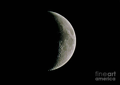The Waxing Crescent Moon Print by John Chumack