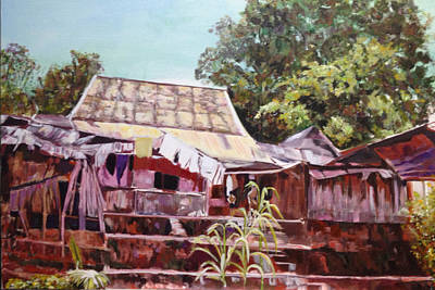 Laundry Painting - The Way It Was by Belinda Low