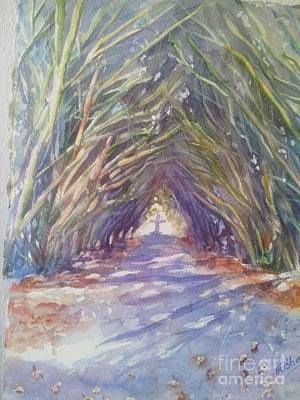Cemetary Painting - The Way by Patricia Pushaw