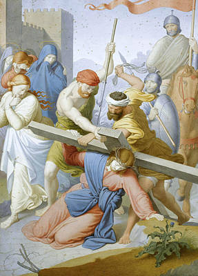 Friedrich Overbeck Drawing - The Way To Calvary by Friedrich Overbeck