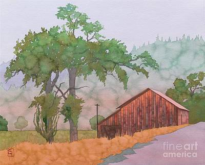 Barn Landscape Painting - The Way To Napa by Robert Hooper