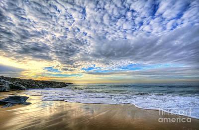 Beach Digital Art - The Wedge - Newport Beach by Eddie Yerkish