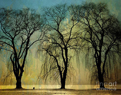 The Weeping Trees Print by Bedros Awak