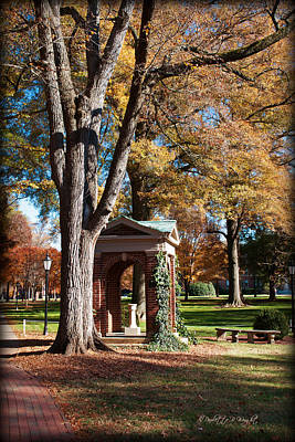 Paulette Wright Digital Art - The Well - Davidson College by Paulette B Wright