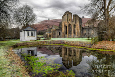 Llangollen Digital Art - The Welsh Abbey by Adrian Evans