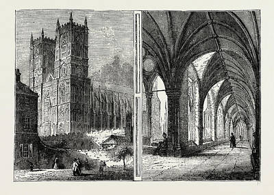 Westminster Abbey Drawing - The Western Towers And Cloisters Of Westminster Abbey by Litz Collection