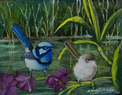 Wren Mixed Media - The Wetlands by Sandra Sengstock-Miller