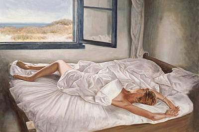 Interior Morning Painting - The Whispering Sea  by John Worthington