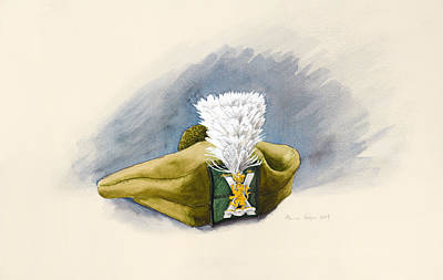 The White Hackle Print by Alison Cooper