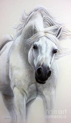 The White Horse Print by Sandi Baker
