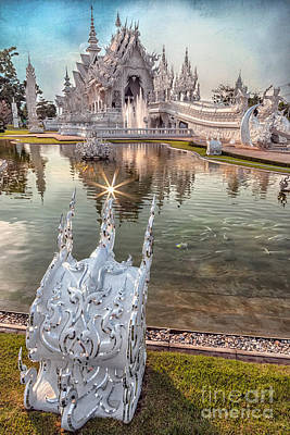 The White Temple Print by Adrian Evans