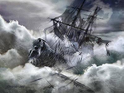 The White Wave Print by Stefano Popovski